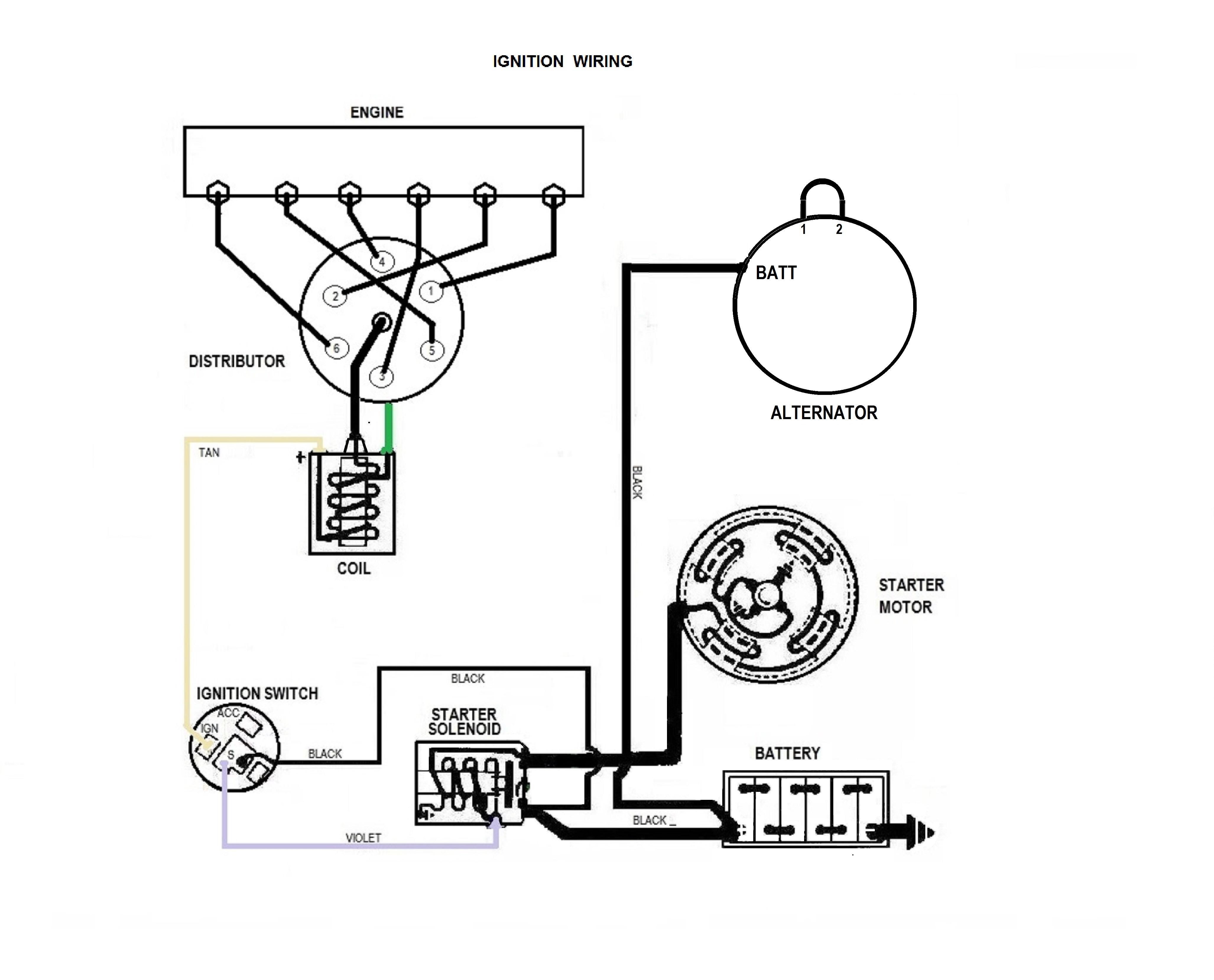 Alternator wiring wire single 1 wire