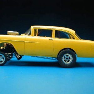 Wolfies Yellow 55 AWB model Car
