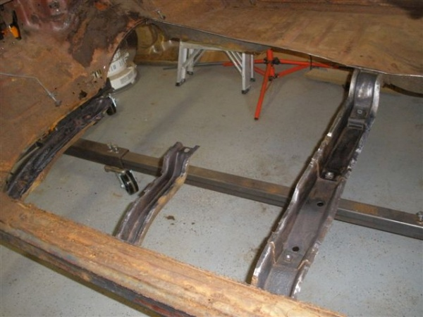 Using A Rotisserie To Replace Floor Pans Trifive Com